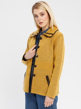 Yellow - Unlined - Point Collar -  - Jacket