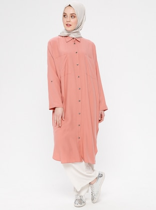 Coral - Unlined - Point Collar - Cotton - Topcoat