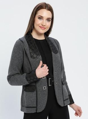 Black - Gray - Multi - Unlined - Shawl Collar -  - Jacket