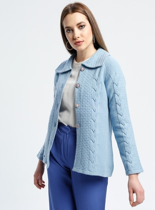 Baby Blue - Unlined - Point Collar -  - Jacket