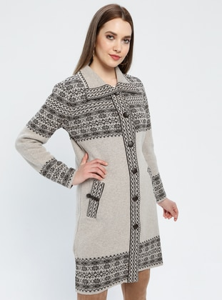 Brown - Minc - Ethnic - Unlined - Point Collar -  - Jacket