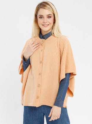 Salmon - Crew neck - Unlined -  - Poncho