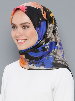 Multi - Printed - Silk Blend - Cotton - Scarf - Aker