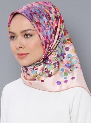 Multi - Printed - %100 Silk - Twill - Scarf