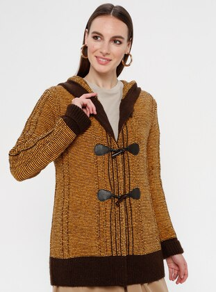 Brown - Orange - Multi - Unlined -  - Jacket