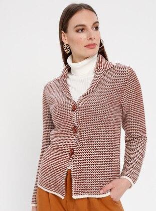 Beige - Tan - Unlined - Point Collar -  - Jacket