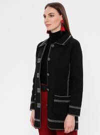 Black - Gray - Unlined - Point Collar -  - Jacket
