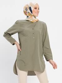 Khaki - Button Collar - Tunic