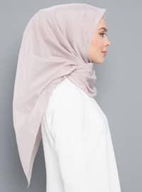 Powder - Plain - Silk Blend - Cotton - Shawl