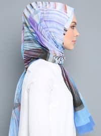 Multi - Printed - Silk Blend - Cotton - Shawl