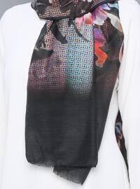 Multi - Printed - Silk Blend - Cotton - Scarf