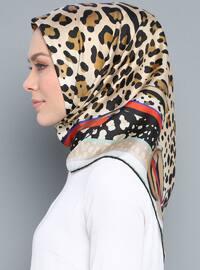 Multi - Leopard - %100 Silk - Twill - Scarf