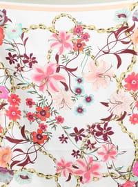 Multi - Floral - %100 Silk - Twill - Scarf