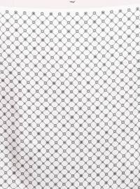 Powder - Printed - %100 Silk - Twill - Scarf