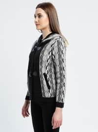 Black - Gray - Multi - Unlined -  - Jacket