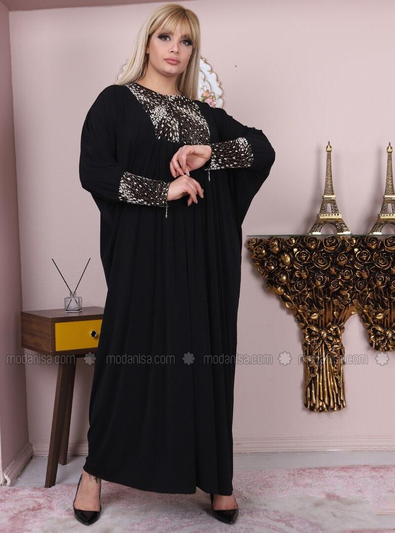 06df43866fb5f Büyük Beden Abiye Elbise - Siyah
