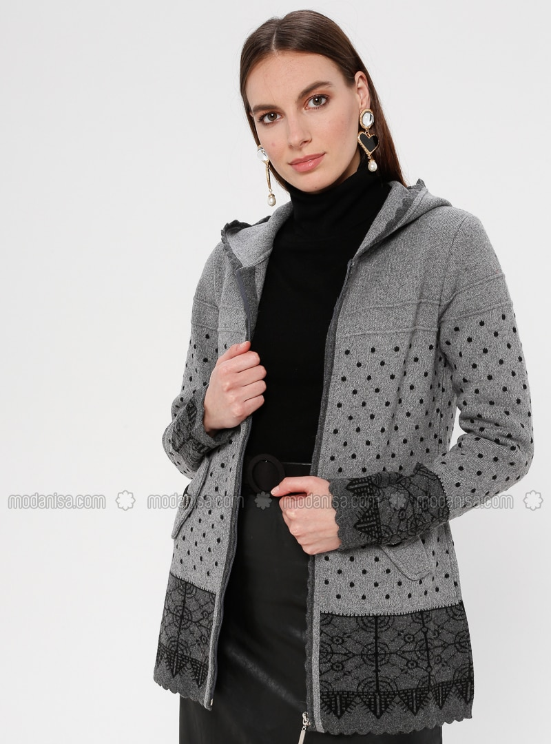 Gray - Multi - Unlined -  - Jacket