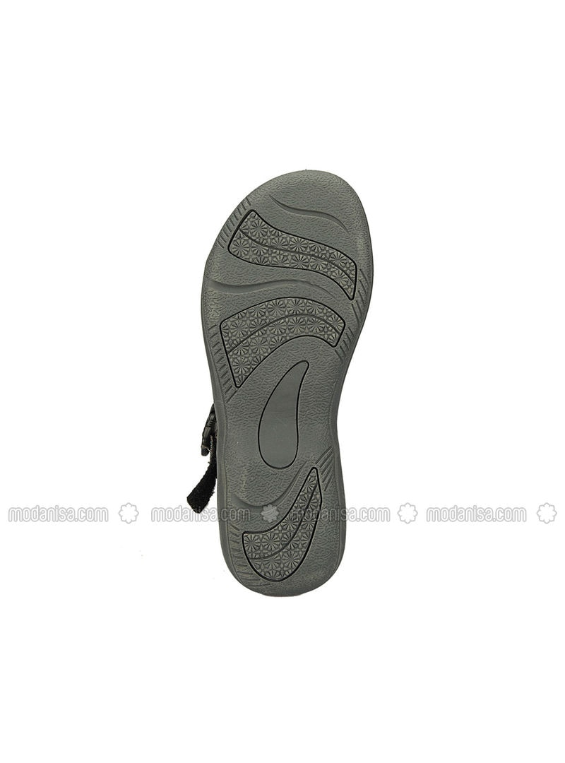 6175237e34ca 224906 Koyu Gri Turkuaz Kadın Sandalet - Karışık