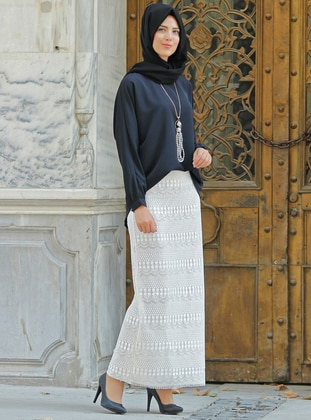 White - Fully Lined - Skirt