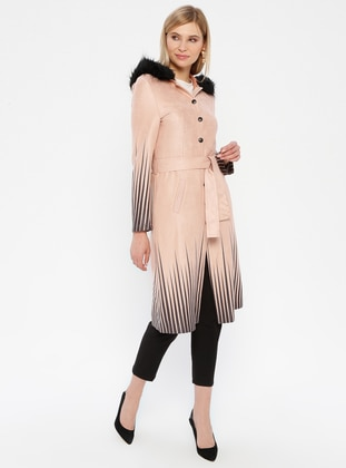 Powder - Stripe - Unlined - Button Collar - Topcoat