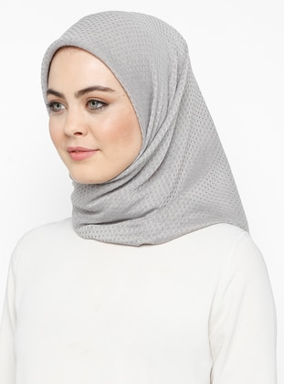 Gray - Plain - Cotton - Scarf - Bonjela