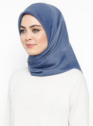 Indigo - Plain - Cotton - Scarf - Bonjela