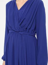 Saxe - V neck Collar - Fully Lined - Maternity Dress