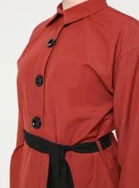 Terra Cotta - Point Collar - Cotton - Tunic