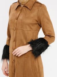 Tan - Unlined - Point Collar - Coat