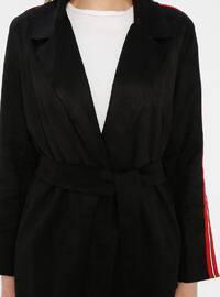 Black - Shawl Collar - Cardigan
