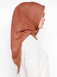 Tan - Plain - Cotton - Scarf