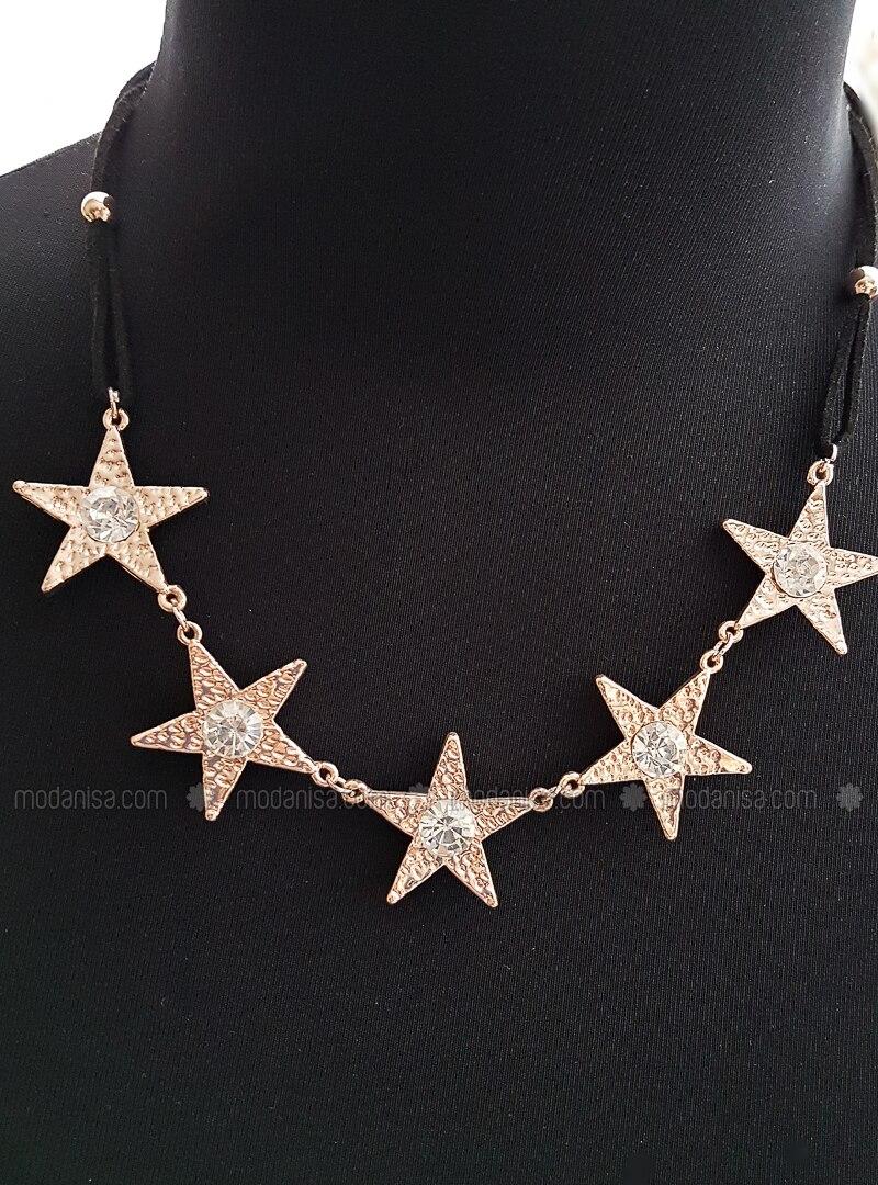 Black - Rose - Necklace