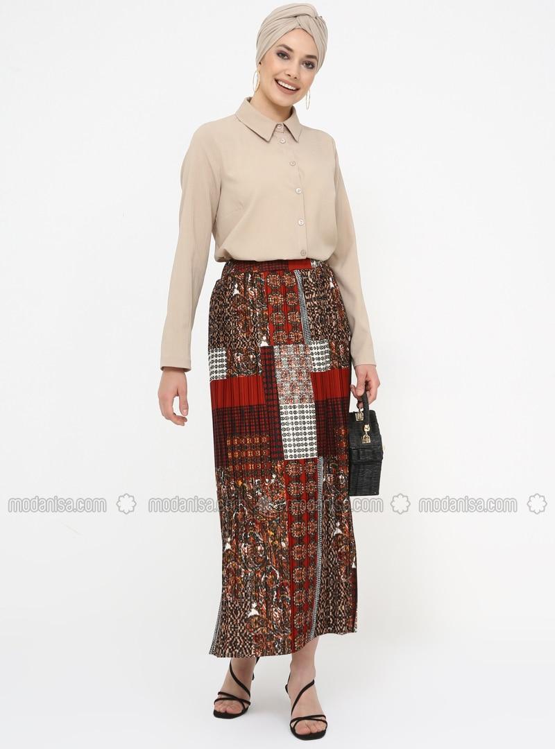 Multi - Multi - Unlined - Skirt