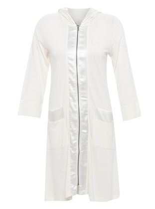 White - Morning Robe - Artış Collection