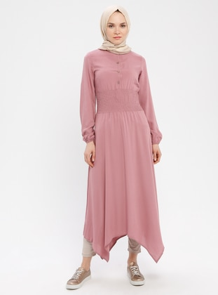 Powder - Crew neck - Unlined - Cotton - Dress