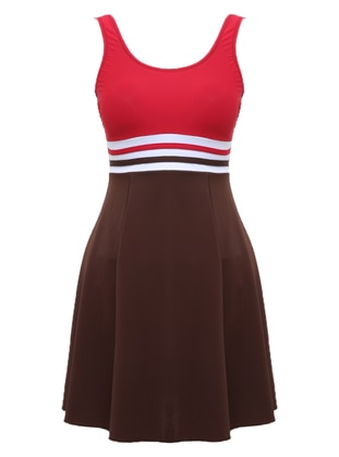 Red - Brown - Multi - Half Covered Switsuits