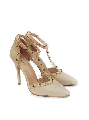 Beige - High Heel - Casual - Shoes