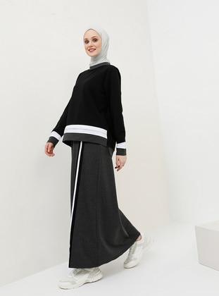 Anthracite - Unlined - Cotton - Suit