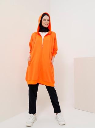 Orange - Unlined - Cotton - Topcoat