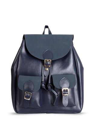 Navy Blue - Backpacks - Abba