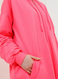 Pink - Unlined - Cotton - Topcoat