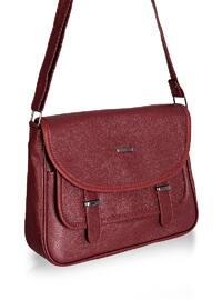 Maroon - Shoulder Bags - Abba