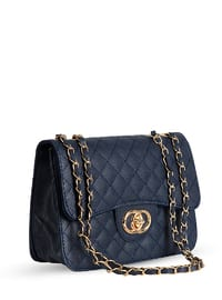 Navy Blue - Shoulder Bags - Abba