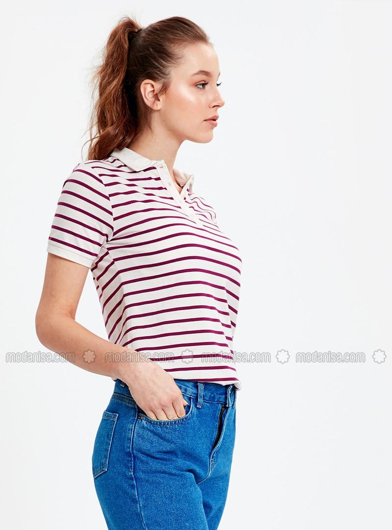 Purple - Stripe - T-Shirt