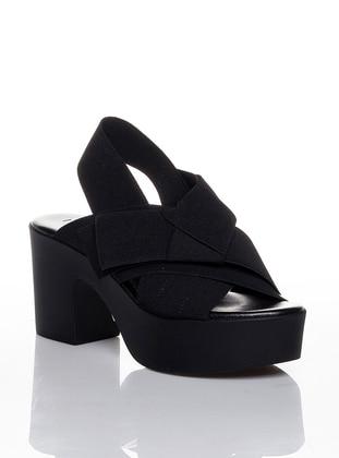 Black - High Heel - Casual - Shoes - Efem