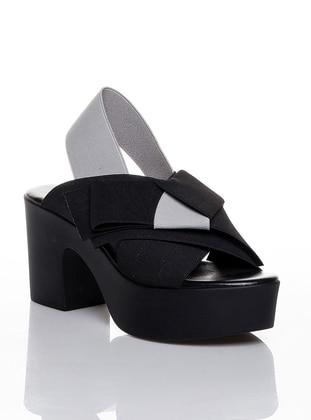 Black - Gray - High Heel - Casual - Shoes - Efem