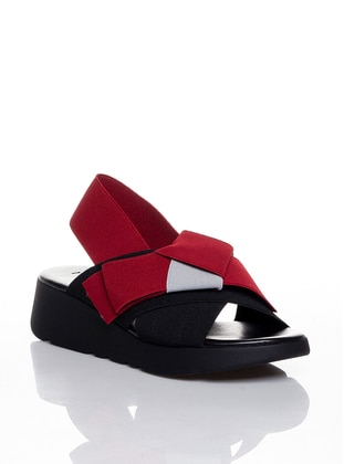Red - Black - Casual - Shoes - Efem