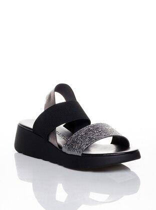 Black - Lamé - Casual - Shoes - Efem