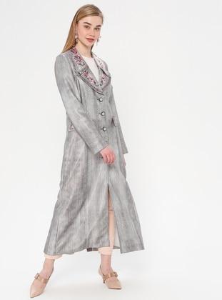 Gray - Multi - Unlined - Shawl Collar - Topcoat