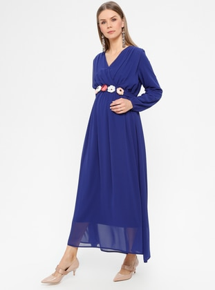 Saxe - Crew neck - Fully Lined - Maternity Dress